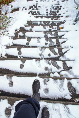 Slip Fall Stairs